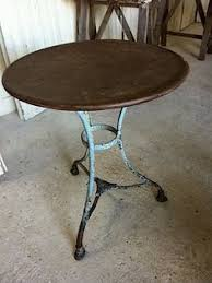 Antique Bistro Table Vintage Metal Bistro Table With Original Black And Green