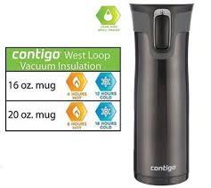 contigo travel mug contigo autoseal west loop stainless steel travel mug