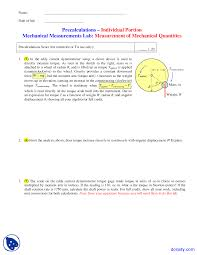 measurement of mechanical quantities instrumentation