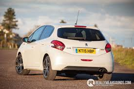 peugeot white peugeot 208 gt line driven rms motoring