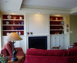 furniture stunning custom living room cabinets in white painted