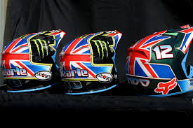 custom motocross helmet painting image design custom team great britain mx des nations helmets 2011