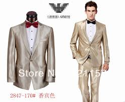 2013 brand name champagne gold men wedding dress suit top quality