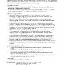 Resume Job Descriptions by Top Preschool Teacher Job Description Recentresumes Com