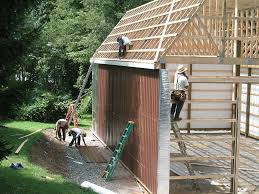 How To Pole Building Construction by Pole Barn With Gambrel Roof Truss Kit Pa U0026 Nj Apm Buildings