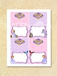 sofia the first party food labels instant download by madphotoge
