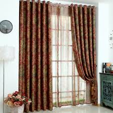 double window treatments europe luxurious double sided printed tulle window curtains for