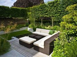 Small Space Patio Furniture by Small Modern Garden Ideas With Outdoor Furniture Modern Garden