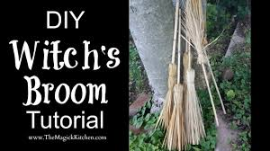 diy witch u0027s broom tutorial youtube