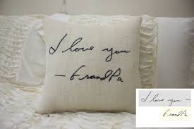 personalized in memory of gifts burlap pillow personalized handwriting pillow remembrance gift