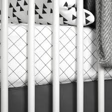 Black And White Crib Bedding For Boys Black And White Baby Bedding Monochrome Nursery Olli Lime Modern