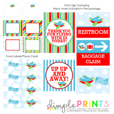 airplane printable birthday party package dimple prints shop