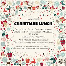 christmas lunch invitation cheerful template design of christmas lunch invitation with