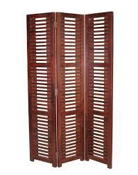 buy fabindia brown sheesham 3 panel monarch screen online