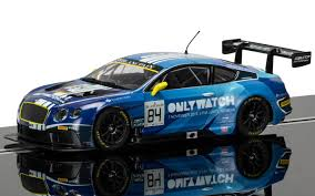 bentley blue scalextric c3846 bentley continental gt3 team htp blue