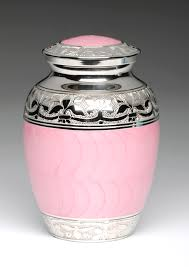 baby urns baby pink enamel and silver cremation urns natures pet loss