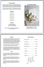 Funeral Programs Wording Free Editable Funeral Memorial Program Templates