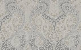 morocco paisley wallpaper in neutrals and metallic design by