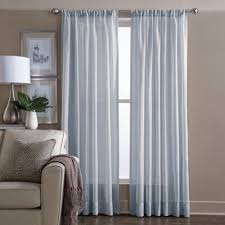 95 Inch Curtain Panels Buy Sheer 95 Inch Window Curtain Panel In Blue From Bed Bath Beyond