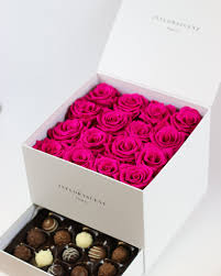 hot pink roses luxury white square box hot pink roses that last a year
