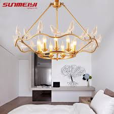 Copper Chandeliers Creative Bird Copper Chandeliers For Living Room Bedroom New