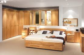Bedroom Bed In Corner Bedroom Full Size Brown Comtemporary Stained Solid Wood Panel Bed