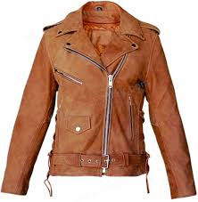 leather cycle jacket ladies womens brown leather motorcycle jacket side lace freds