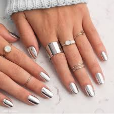 top 40 gorgeous metallic nail designs that you can try to copy
