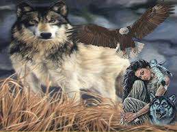 free wallpaper wolf and eagles wolf with eagle and indian