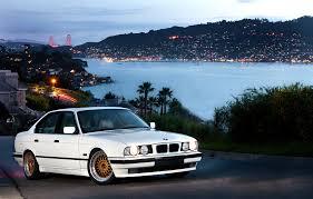 bmw e34 convertible white bmw e34 sedan on gold bbs rc bbs rs zone