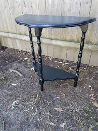 Half Moon Side Table 1 Vintage Half Moon Side Table Accent Table Plant Stand Painted