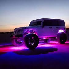 jeep wrangler rock lights bluetooth remote 8pc rgb led rock light pod kit vivid light bars