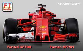 ferrari f1 first comparison ferrari sf71h vs ferrari sf70h f1 fansite com