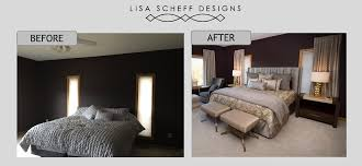 glamorous bedroom design before and after master bedroom