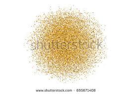 Glitter Backdrop Golden Circle Sparkles On White Background Stock Vector 674975758