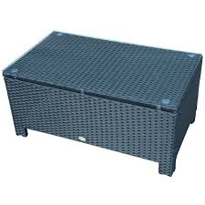 rattan coffee table outdoor outsunny rattan coffee table with glass top black patio tables