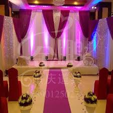 2015 latest wedding decoration curtain ice yarn stage curtain with