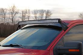 How To Install Led Light Bar On Roof 54in curved led light bar upper windshield mounting brackets for