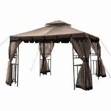 gazebo heavy duty 10 x 10ft heavy duty gazebo with 2 tier roof corner shelves