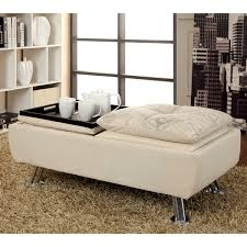 modern storage ottoman cream u2014 railing stairs and kitchen design