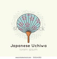 uchiwa fan vector illustration japanese traditional fan uchiwa stock vector