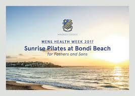 2017 men u0027s health week pilates yoga mindfulness on bondi beach