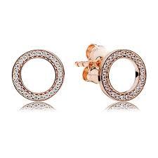 stud earrings pandora forever stud earrings 280585cz pandora jewellery