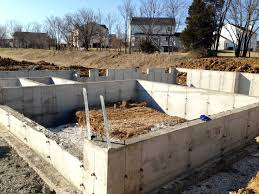 pouring basement foundation walls building dreams