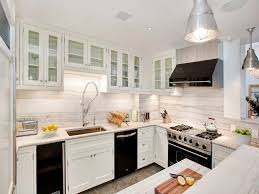 Best Black Appliances Images On Pinterest Dream Kitchens - White kitchen cabinets with white backsplash