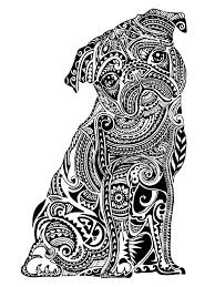 unusual idea dog coloring pages for adults de cecilymae