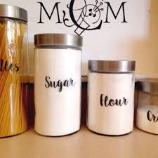labels for kitchen canisters vintage kitchen canisters 4 set from everychicway on