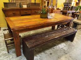 reclaimed wood dining table u0026 rustic ironwood bench visit gado