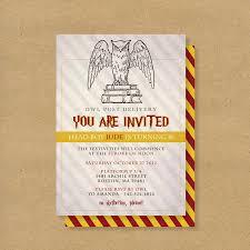 harry potter party invitations plumegiant com