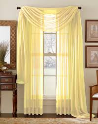 lemon yellow sheer curtain scarf sheer curtains curtain rods